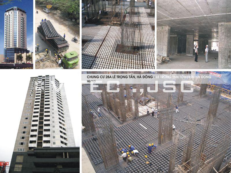 Dự án làm sàn bubbledeck ở chung cư trên đường Lê Trọng Tấn