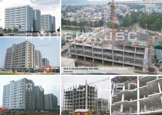 Nhà ở xã hội Phú Sơn được xây dựng với công nghệ sàn rỗng C-Deck