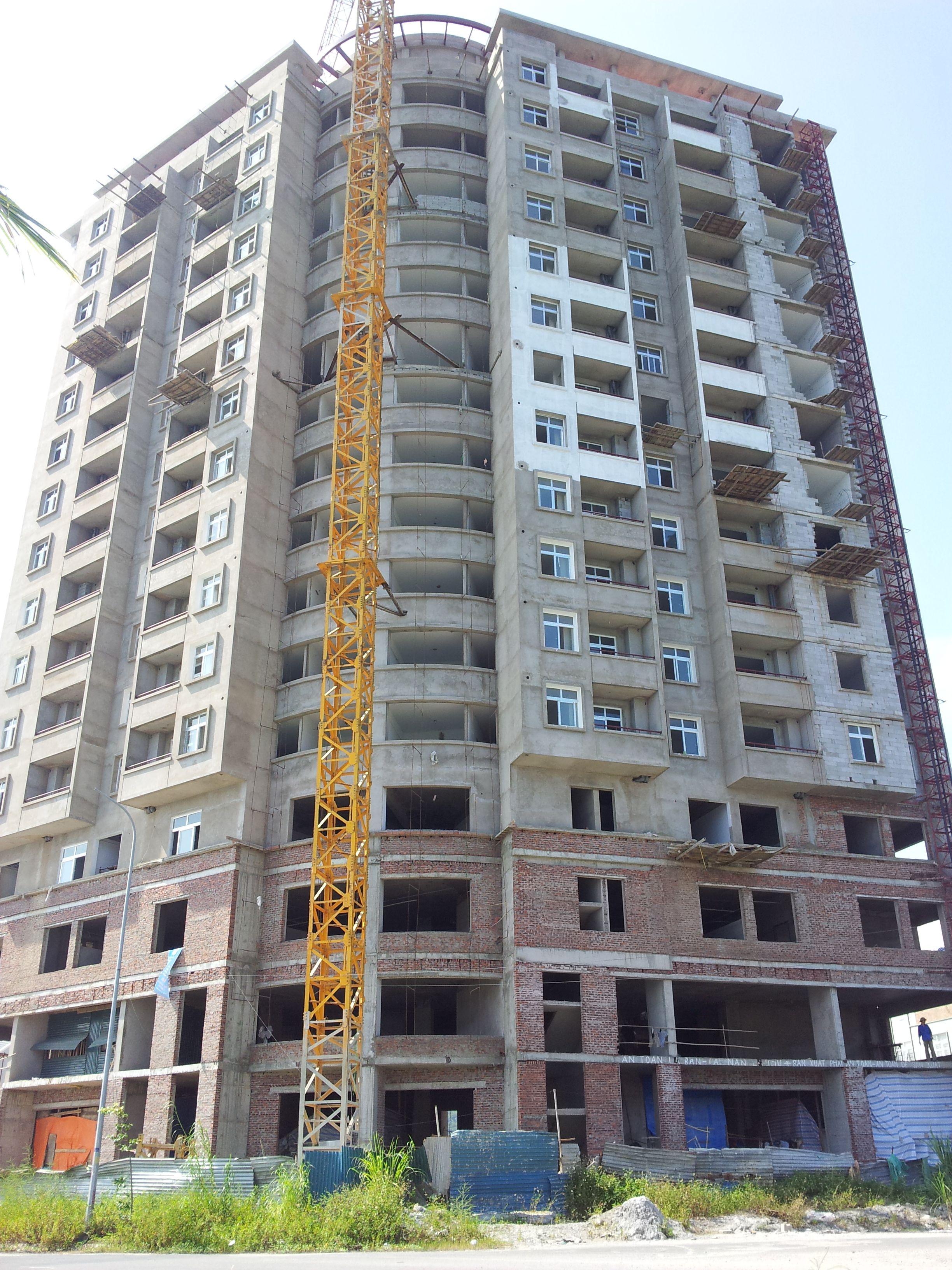 Ảnh: Công trình tòa nhà LICOGI18.1- Quảng Ninh là một trong số các Dự án áp dụng công nghệ mới của Cty VITEC